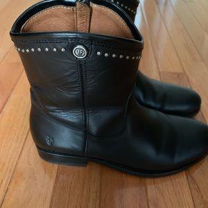 Frye Shoes - Frye Melissa short black leather boots